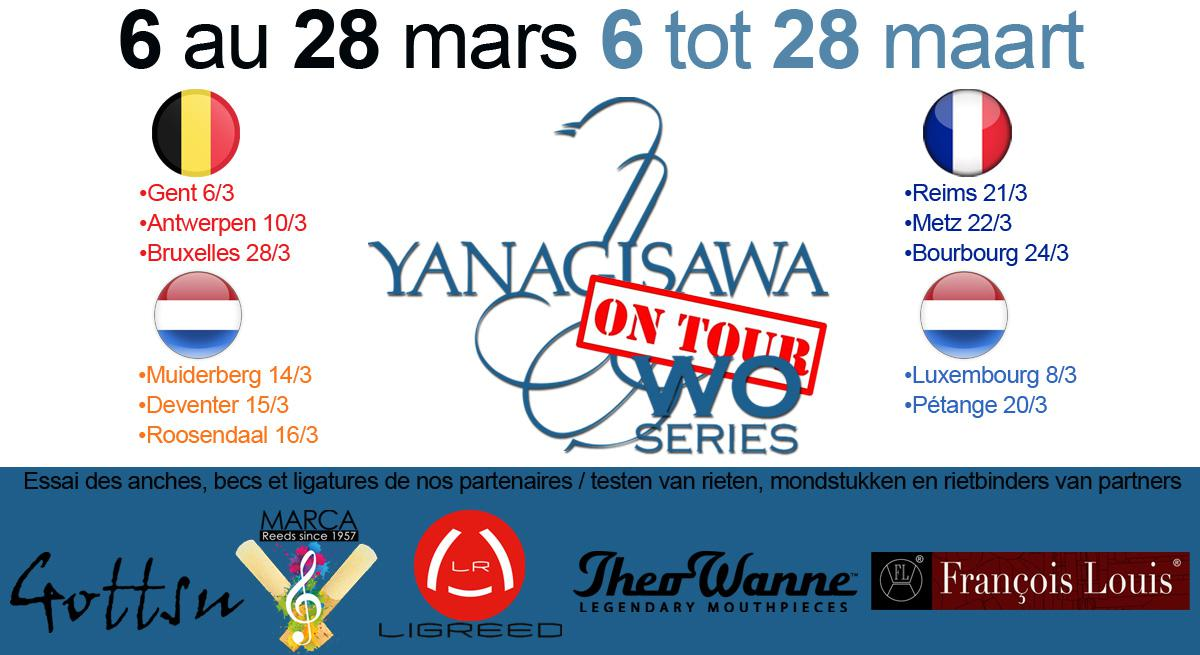 Illustration Tournée Yanagisawa Du 6 au 28 Mars