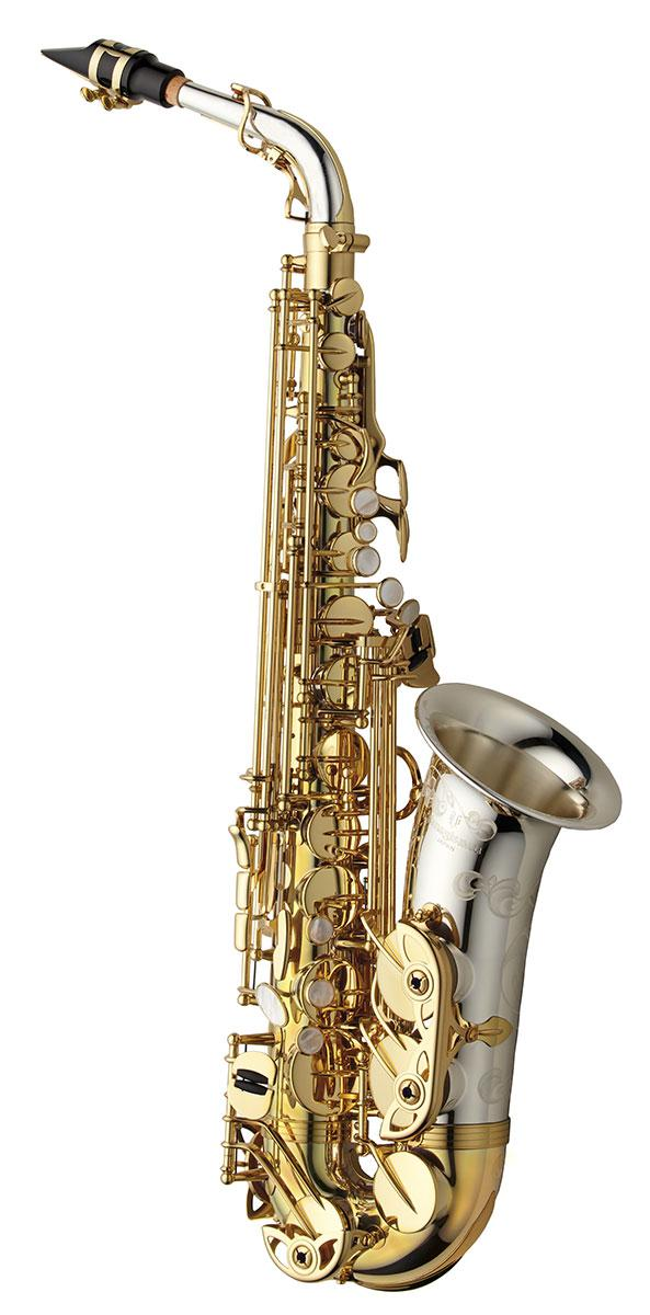 ALTO SAX - SOLID SILVER NECK & BELL - BRASS BODY & BOW